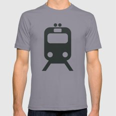 Train Mens Fitted Tee Slate SMALL