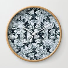 Black Burros Wall Clock