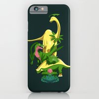 iPhone & iPod Case featuring Grassiosaurs by trekvix