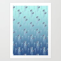 Fans & Feathers // Graphic Print Art Print