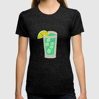 Alcohol_02 Womens Fitted Tee Tri-Black SMALL