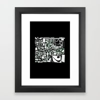 Numbers By Friztin Framed Art Print