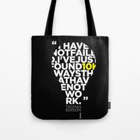 Esperantos Quotes #2 (TomasEdison) Tote Bag