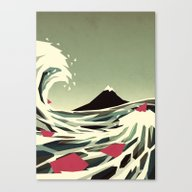 Canvas Print featuring Go With The Flow by Yetiland