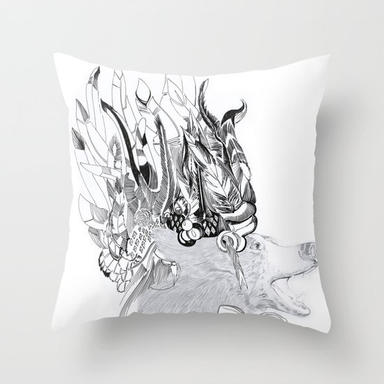 Cherokee Bear Throw Pillow