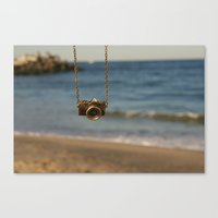 Camera Over The Ocean Canvas Print