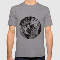 Wolf Mens Fitted Tee Athletic Grey SMALL