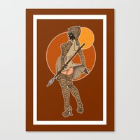 Star Wars tusken pinup Canvas Print