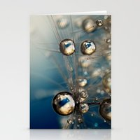 Royal Sea Blue Drops Stationery Cards