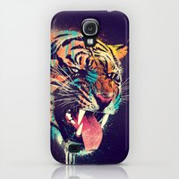 Galaxy S4 Cases featuring FEROCIOUS TIGER by dzeri29