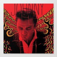 Wings Of Fire Johnny Cas… Canvas Print