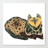 color cat square Canvas Print