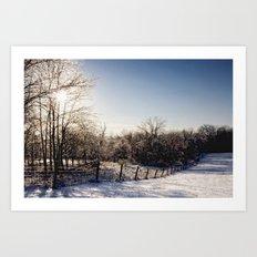 Frozen Countryside Art Print
