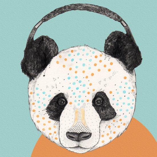 Polkadot Panda Canvas Print