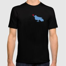 Love Birds Mens Fitted Tee Black SMALL
