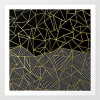 Ab Half And Half Gold Art Print