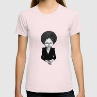 Nina Simone Womens Fitted Tee Light Pink SMALL