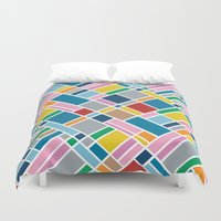 Map Outline 45  Duvet Cover