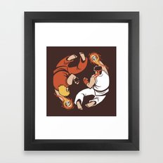 Super Yin Yang Framed Art Print
