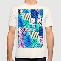 Colorful Watercolor Bloc… Mens Fitted Tee Natural SMALL