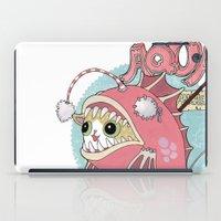 Aqua cat_Muka iPad Case
