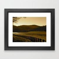 Down the Golden Loop Framed Art Print