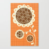 Canvas Print featuring Retro Sunshine Bouquet by shiny orange dreams
