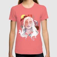 Daenerys Targaryen Womens Fitted Tee Pomegranate SMALL