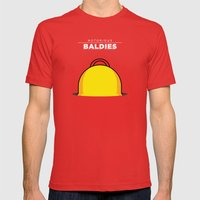 Homer Simpson Mens Fitted Tee Red SMALL