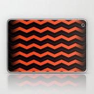 Orange And Black Chevron… Laptop & iPad Skin
