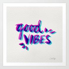 Good Vibes – Magenta &… Art Print