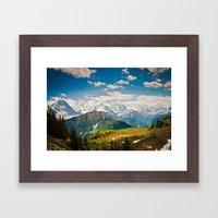 berner oberland, switzerland Framed Art Print