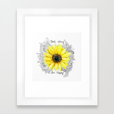 Don't Worry, Be Happy Su… Framed Art Print