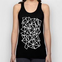 Abstract Outline Thick W… Unisex Tank Top