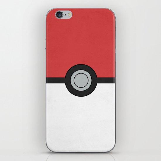Minimal Pokéball Poster - Pokemon Classic iPhone & iPod Skin