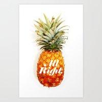 All Right. (Tropical) Art Print