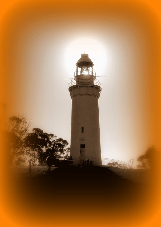 Natural light behind the Table Cape Lighthouse Art Print