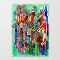 Finger's City Canvas Print