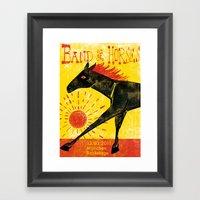 Band Of Horses Framed Art Print