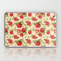 Rose pattern- cream Laptop & iPad Skin