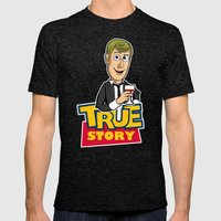 True Story Mens Fitted Tee Tri-Black SMALL