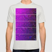 Bio Rhythm I (Five Panels Series) Mens Fitted Tee Silver SMALL