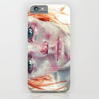 iPhone Cases featuring my eyes refuse to accept passive tears by agnes-cecile