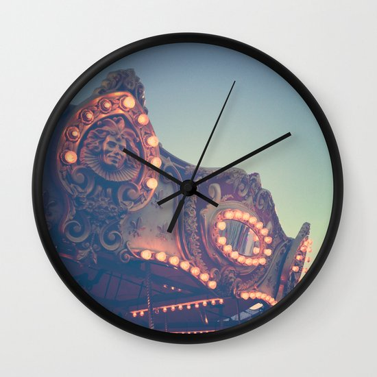 Twilight Carnival Ride Wall Clock