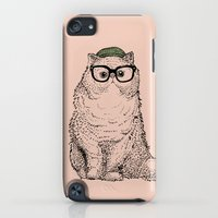 iPod Touch Cases featuring Hipster Persian Cat by Huebucket