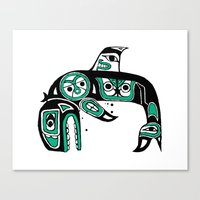 Native American Orca Canvas Print