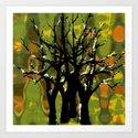 Tree Clusters Art Print