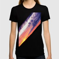 Swedish midsummer sky Womens Fitted Tee Black SMALL