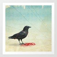 Freedom  _ Black Crow Art Print