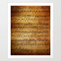 Yesterday's Music Art Print